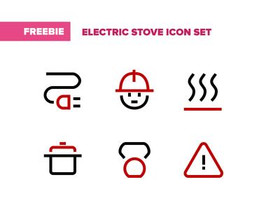 Electric Stove Free Icon Set