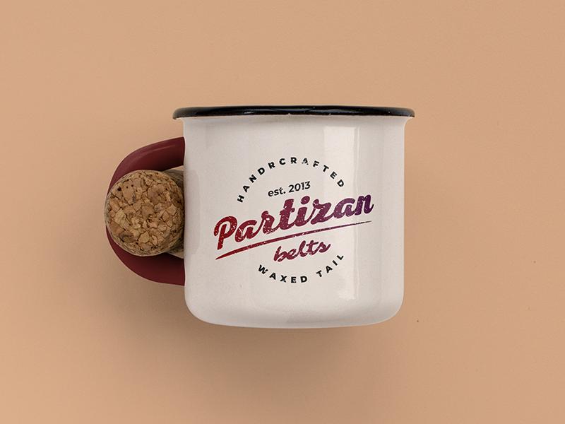 Partizan Redesign mug mockup redesign logotype logo