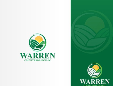 Warren County Pro Lawn LLC design icon logodesign lawn creative design