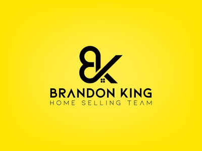Brandon King Home Selling Team flat real estate minimal logodesign logo creative design