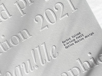 Typography & Edition letter white edition letterpress font graphism identity design branding typography