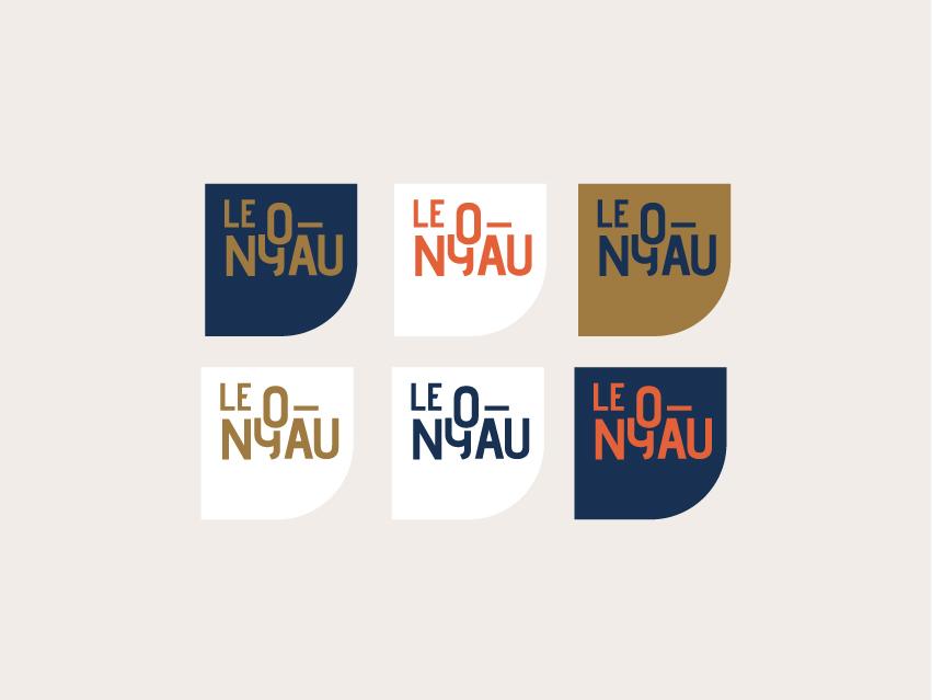 Le noyau app ui icon web nature logotype identity montpellier mtp logo design branding typogaphy