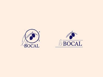 Le bocal 2 logotype blue graphism icon logo ui typography mtp montpellier nature illustration identity design web vector branding