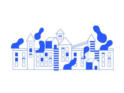 Airo blue graphism icon typography ui montpellier mtp illustration identity vector web branding design