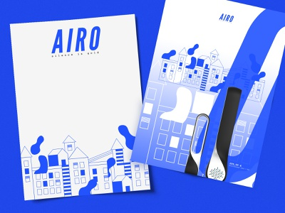 Airo logotype logo graphism blue ui typography identity mtp montpellier illustration web icon design vector branding