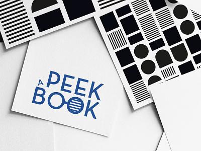 Peek a book ui logotype logo blue graphism typography mtp montpellier illustration identity icon web vector design branding