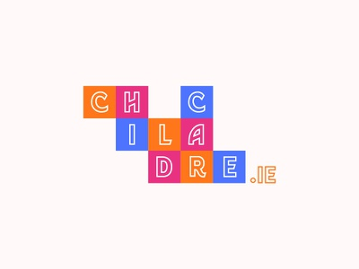 Childcare.ie app typogaphy logotype logo blue graphism mtp montpellier illustration identity icon web vector design branding