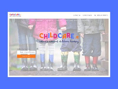 Childcare.ie illustrator lettering minimal website ux ui logotype logo blue graphism typography mtp montpellier icon illustration identity web vector design branding