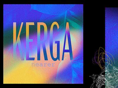 KERGA gradient psd graphisme vibes tropical noise cover album music blue identity graphism web vector typography branding design