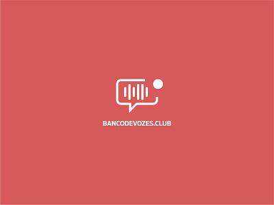 banco de Vozes - Logo minimal icon logo design adobe photoshop 2d banco de audio locução gravação banco de vozes