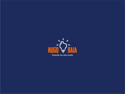 Hugo Baia - Logo minimal icon logo design adobe photoshop 2d idea vereador political jovem politics político