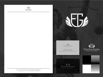 Logotipo Ferreira e Gomes minimal advocacia 2d logotipo logotipos logodesign design de marca marca logotipo de advocacia designer de logotipo