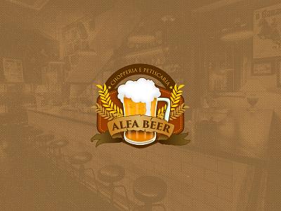 Alfa Beer - Logotipo logodesign branding icon logo design adobe photoshop minimal 2d