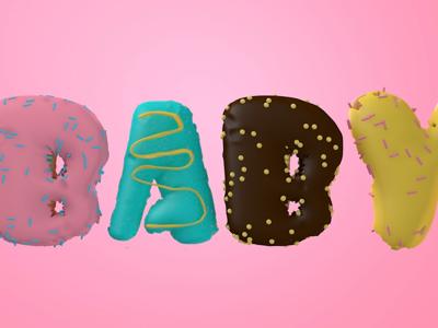 Cake Style Typography