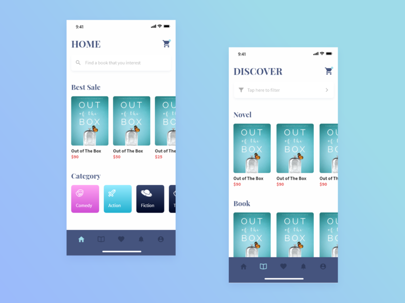 Book Store App by Muhammad Alif R on Dribbble