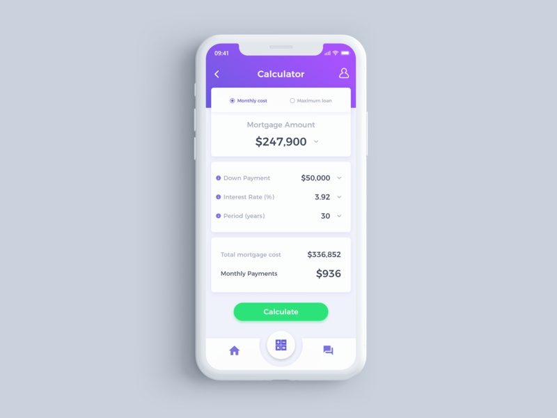 mortgage calculator by gloud dribbble