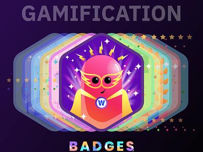 Badges | Gamification | Reward character design characters characterdesign product design uxdesign user experience ux award reward badges gamified gamification