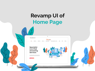 Landing Page UI/UX website outbound call answering service livechat email website ux website ui website concept website mockup phone support sketch adobexd photoshop illustrator email support live chat graphic  design customer support illustration design landing page homepage