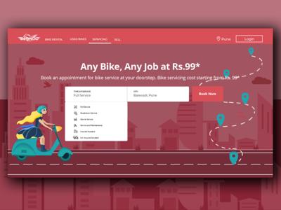 Bike Rental Landing Page