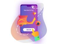 Booking Ride Illustration