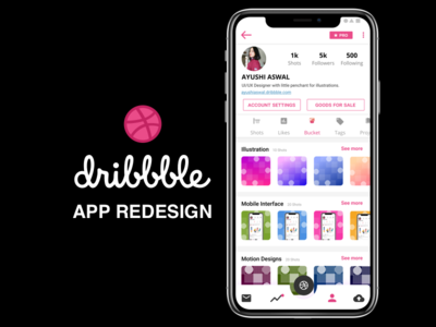 "Redesign Challenge: Dribbble App ""Ribbble"" Reimagined"
