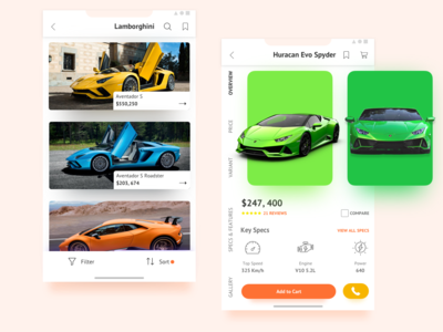 Car Marketplace App Concept- Uplabs (freebie)