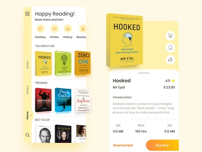 Bookstore App freebies ios kindle book app book store mobile interface product design clean ui minimal mobile hooked mobile ui uiux uiuxdesign interfacedesign uikit protoype book bookworm uplabs