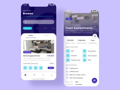 Roommate App Finder Design | Mobile App