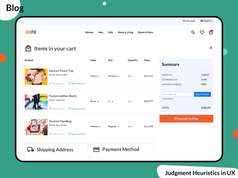 Judgment Heuristics in UX uiuxdesign wireframing wireframe ecommerce shop website web interface webdesign judgement blog ecommerce design add to cart userexperience uxdesign uxui ecommerce checkout process checkout form checkbox checkout checkout page