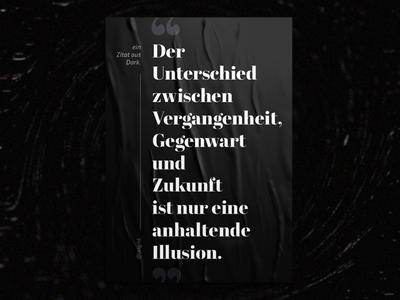 Poster | Der Unterschied poster design dark poster