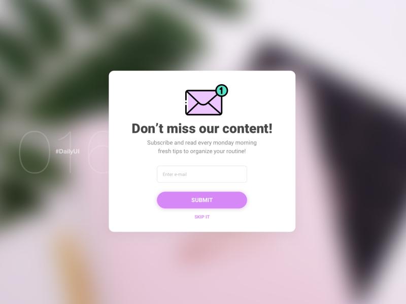 Pop-Up Overlay | Daily UI - 016 overlay popup daily ui 016 design dailyuichallenge uidesign digital dailyui