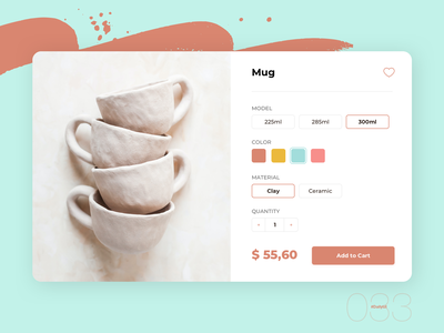 Customize Product | Daily UI - 033 customize product daily 100 challenge daily ui 033 ui clean ui daily clean design simple design dailyuichallenge uidesign digital dailyui