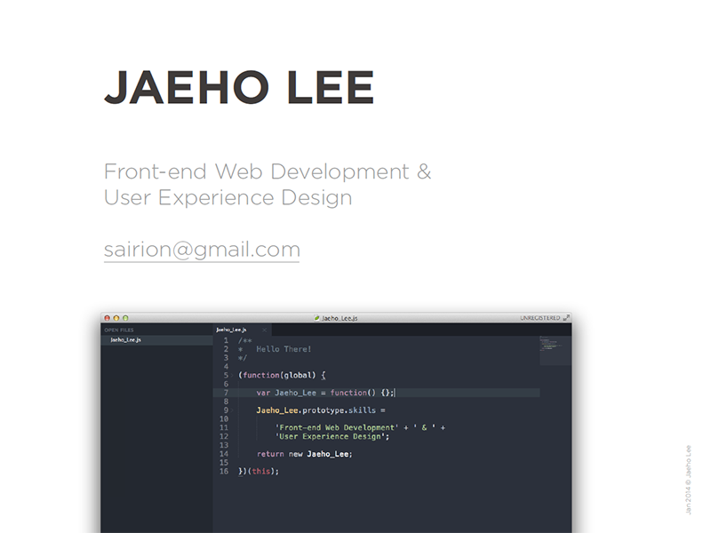 Portfolio Cover portfolio ux design frontend developer designer
