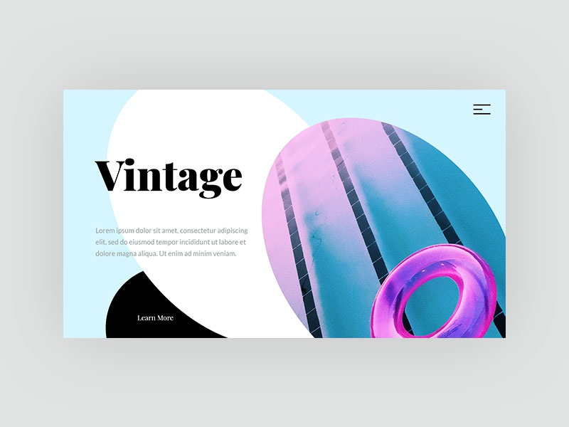 Layer Hero Section flat blue art abstract colorful hero image web design typography web design ui