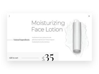 Minimal Product Page product design product whitespace white black black white ui web design minimalism minimalist clean minimal