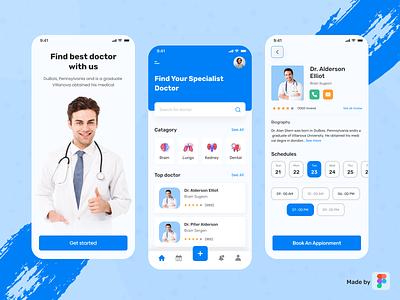 Medical App doctor appointment app shedule ux minimal ios app design mobile app uiux hospital medical app @ui @clean app @health @healthcare @daily-ui @doctor app @patient app @doctor appointment