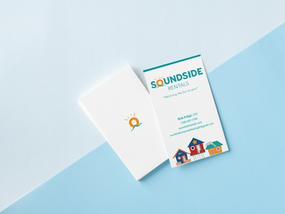 Soundside Card mockup branding design business card businesscard