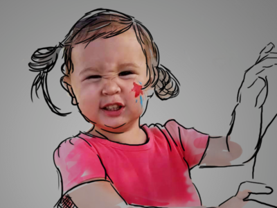 Coming to Life painting baby art photoshop photography illustration