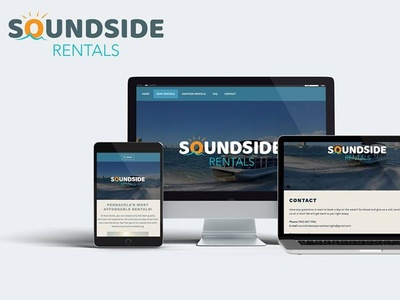 Soundside Rentals branding design uiux web design website