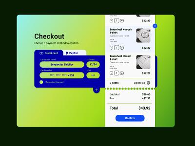 Checkout page ux design ui