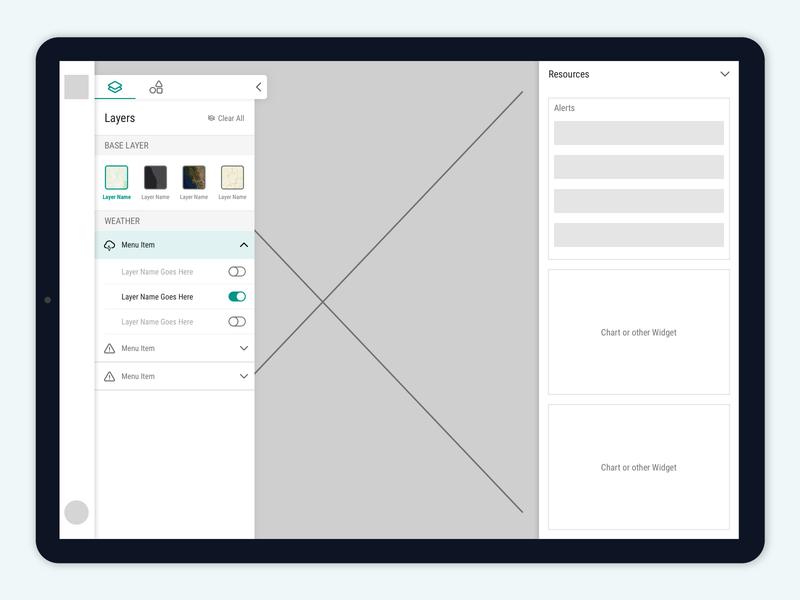 "Weather App ""Dashboard"" Wireframe"