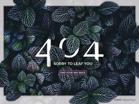 Sorry to Leaf You 404 Page