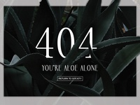 You're Aloe Alone 404 page