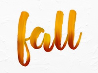 Brush Stroke Type: Fall