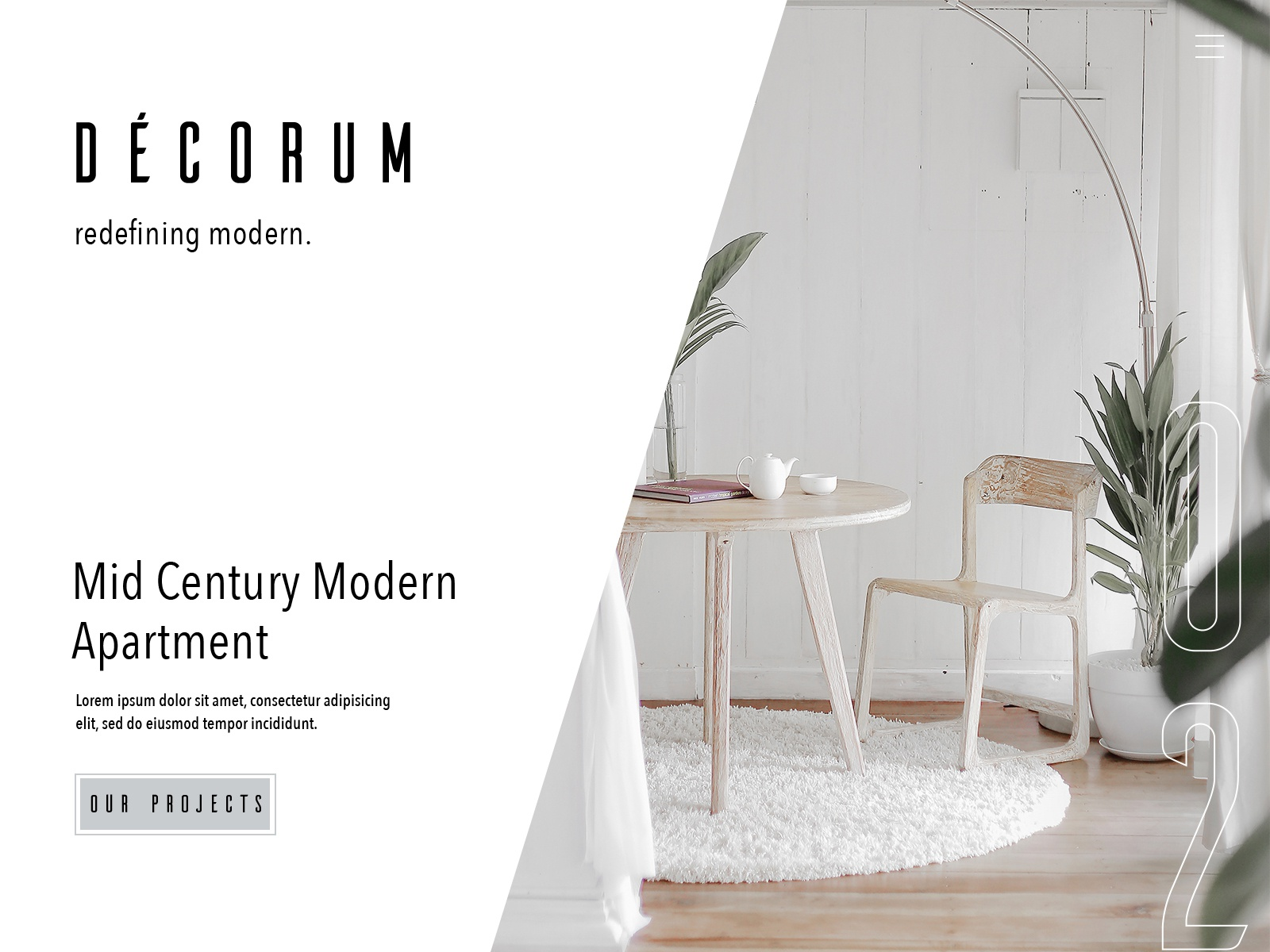 Decorum Interior Page Design By Jocelyn Wright Powell On Dribbble