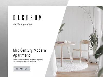 Décorum. Redefining modern.