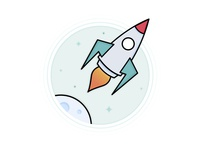 Dribbble  Weekly Warm-up Space Badge