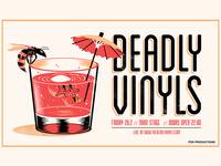 Deadly Vinyls gig poster