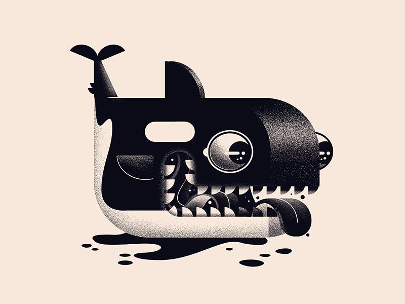 Fortune Orca icon black animal logo killer whale orca design character illustration