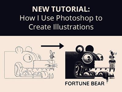 How I Use Photoshop to Create Illustrations blog process photoshop logo design tutorial illustration